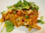East meets West: Indian Curried Chicken Vegetable Enchiladas